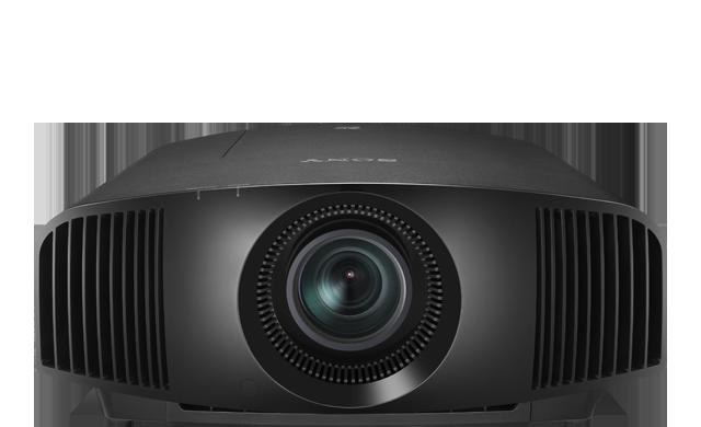 Die Frontansicht des Projektors VPL-VW270ES in Schwarz.