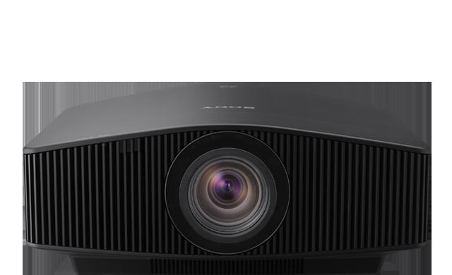 Die Frontansicht des Projektors VPL-VW870ES in Schwarz.