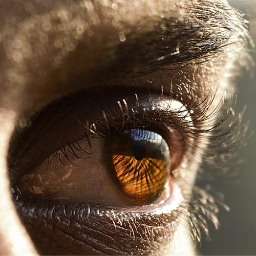 Nahaufnahme eines menschlichen Auges
