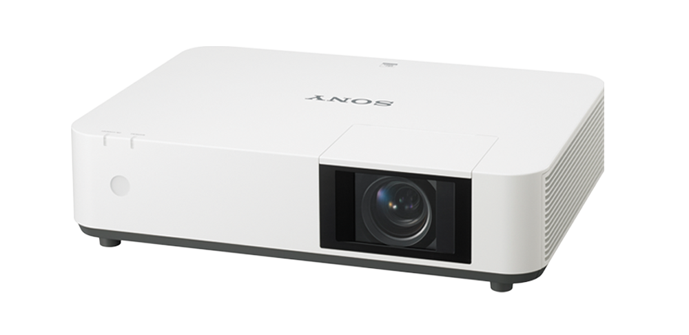 Image of a VPL-PWZ10 laser projector in white.