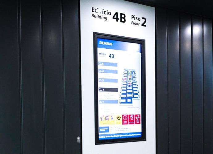 Affichage audiovisuel pour Siemens