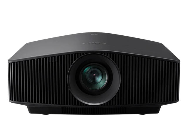 A frontal view of the VPL-VW790ES projector in black