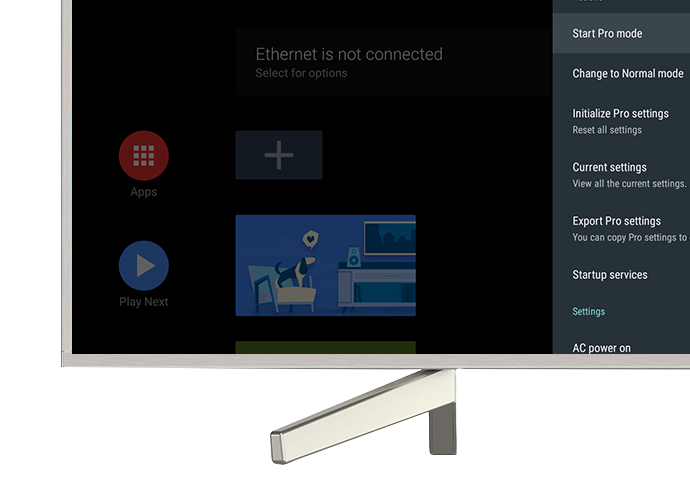 BRAVIA Pro Mode: Professional Settings for Professional Users   Sony Pro