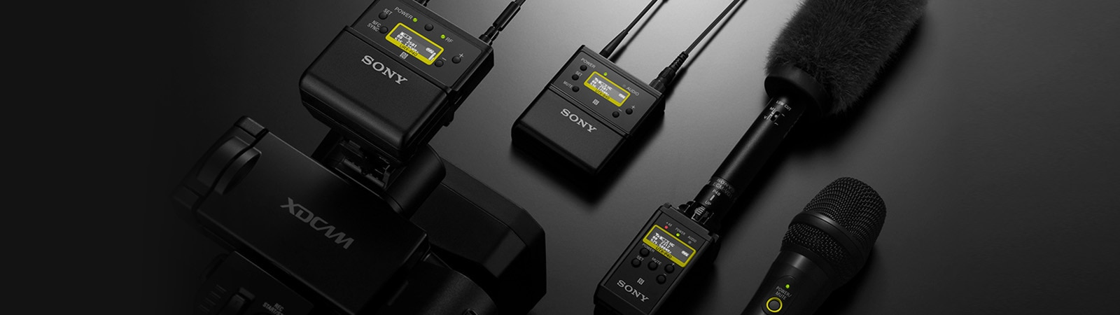 UWP-D Series receivers and Sony microphones