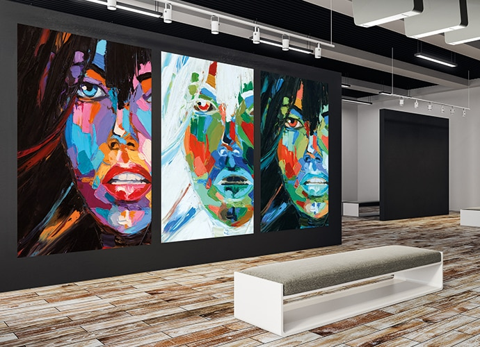 Art wall projection
