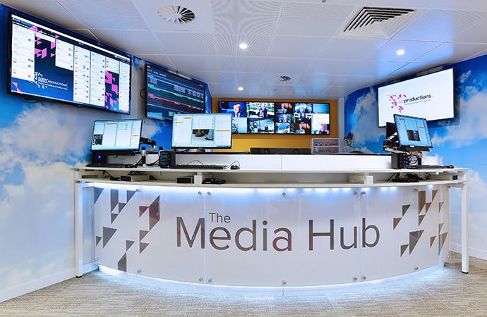 ITN news broadcasting desk