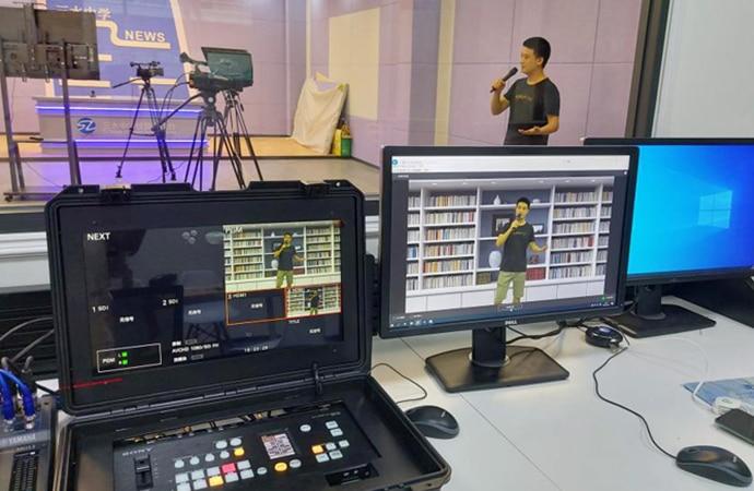 Foshan high school teacher using Sony's edge anayltics appliance to create virtual studio content
