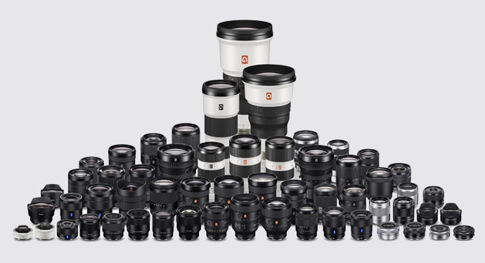 Sony E-mount lens range as of September 2019