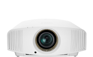 Front-facing image of a VPL-VW590ES 4K Lamp Projector.