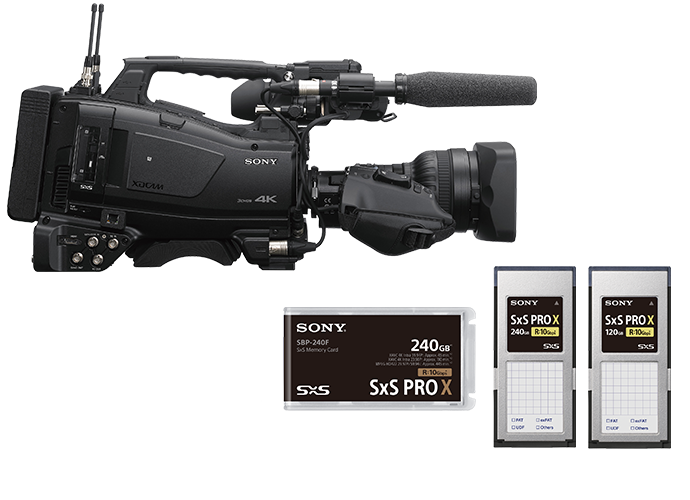 PXW-Z750 shoulder-mount camcorder with SxS Pro X media