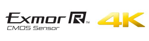 Exmor R CMOS Sensor & 4K logo