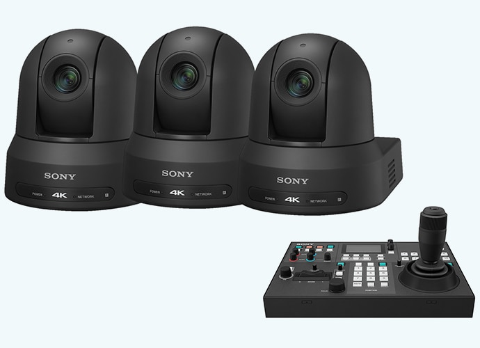 Three BRC-X400s and RM-IP500