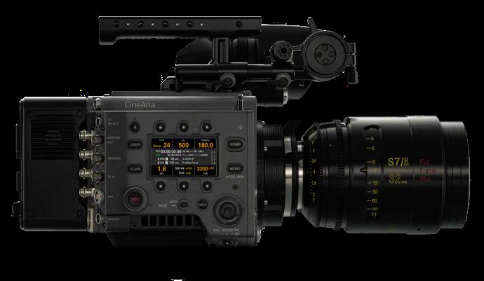 Vista lateral de la cámara cinematográfica digital VENICE
