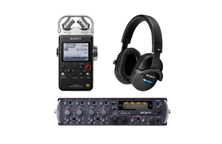 耳机、录音机和混音器