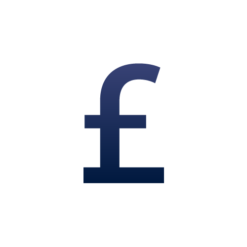 Cost effective icon, GBP Pound sign