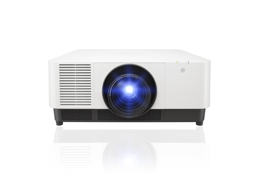 A front facing product photo of the VPL-FHZ131L/VPL-FHZ101L/VPL-FHZ91L laser projector