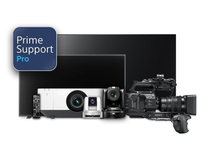 family image of monitor, bravia, system camera, camcorder, projector