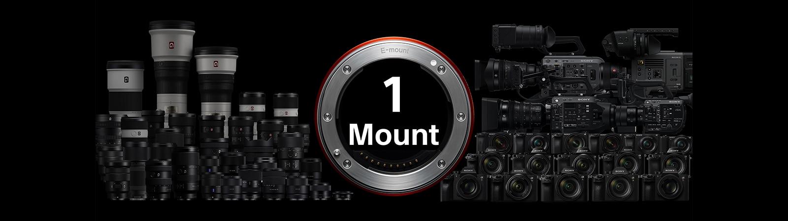 E-mount lenses and cameras
