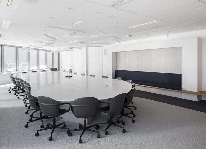 An empty stylish meeting room at Capgemini's Paris office