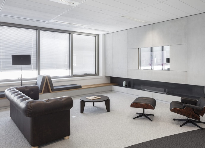 A stylish breakout space at Capgemini's office