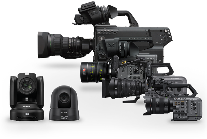 Picture of a variety of Sony cameras