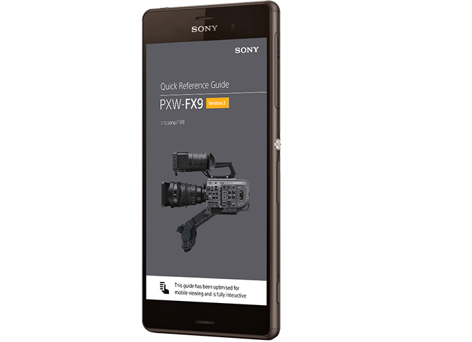 FX9 Guide on mobile phone