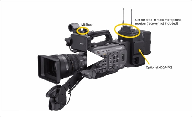 PXW-FX9 with wireless audio set-up