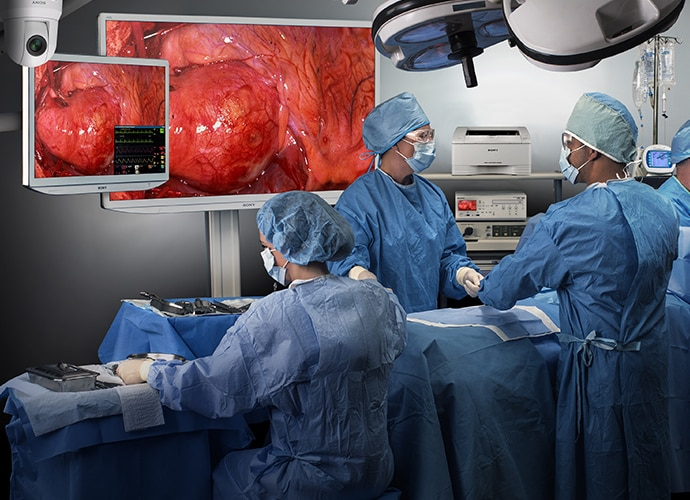 Operating room with Sony equipment