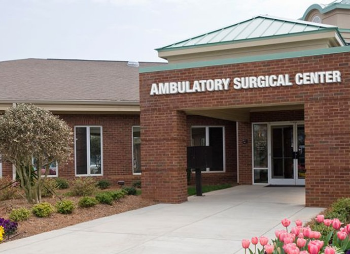 Entrance to an Ambulatory Surgical Center Building