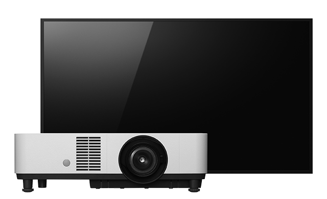 Front facing image of BRAVIA TV and projector