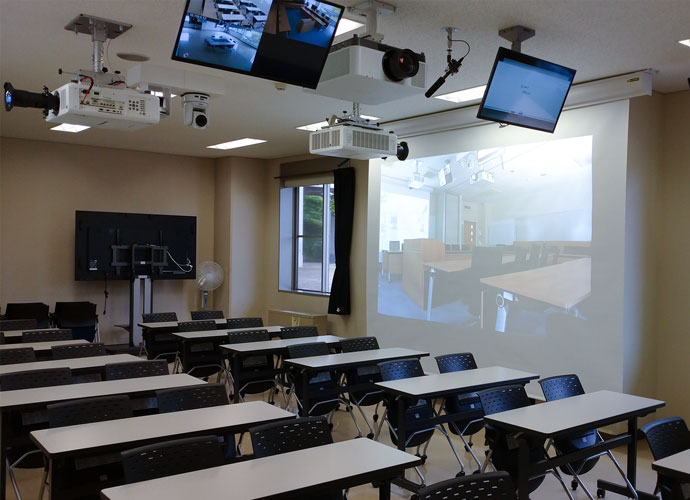 Image showing inside of classroom that has installed the solution.