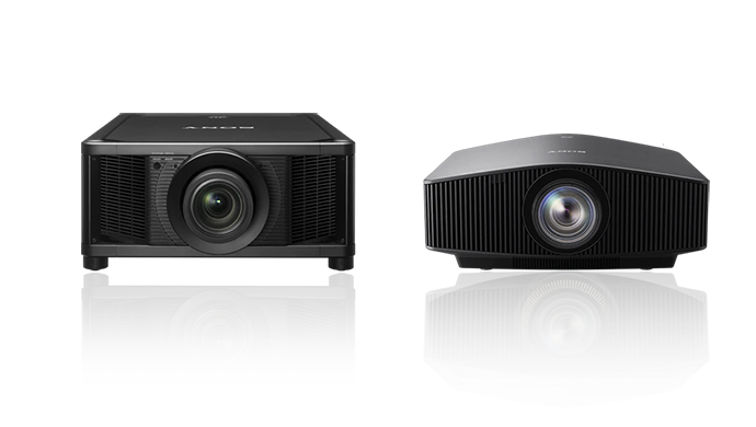 A lineup of two of our SXRD 4K projector models