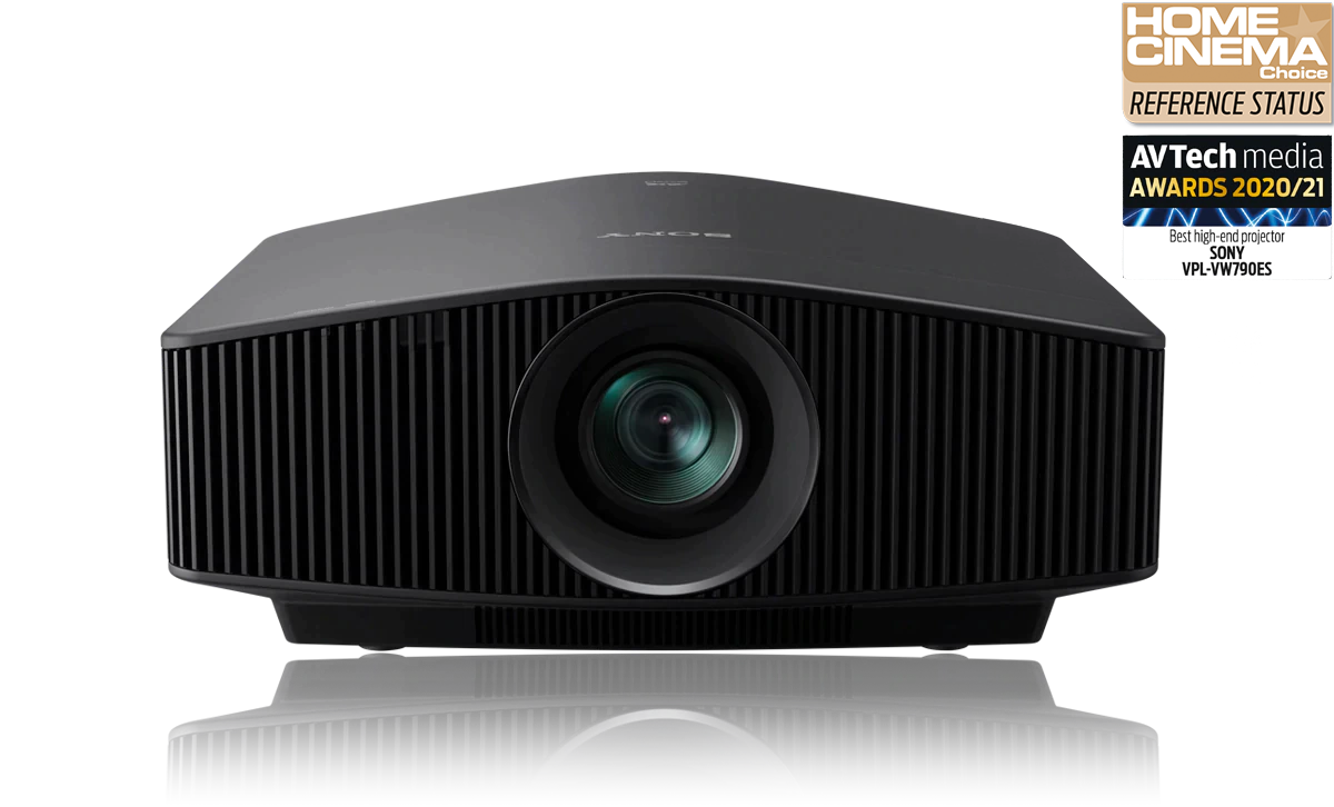 Front-facing view of the VPL-VW790ES home cinema projector