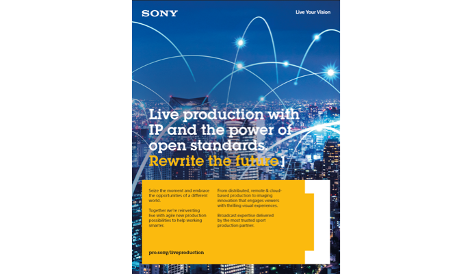 brochure cover for IP Live Production