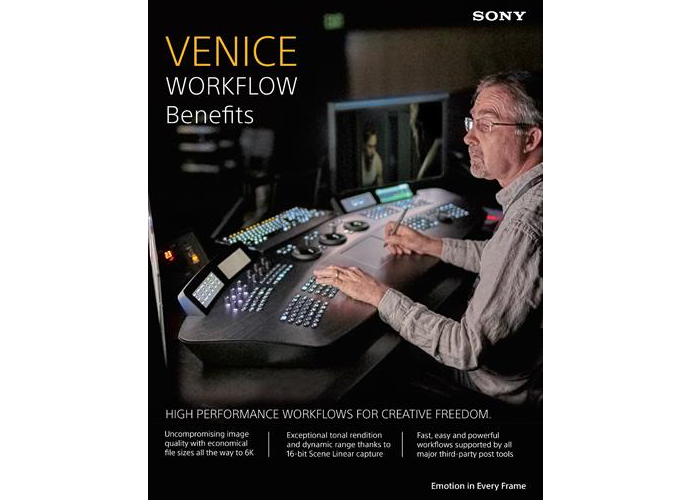 VENICE Workflow Benefits brochure cover