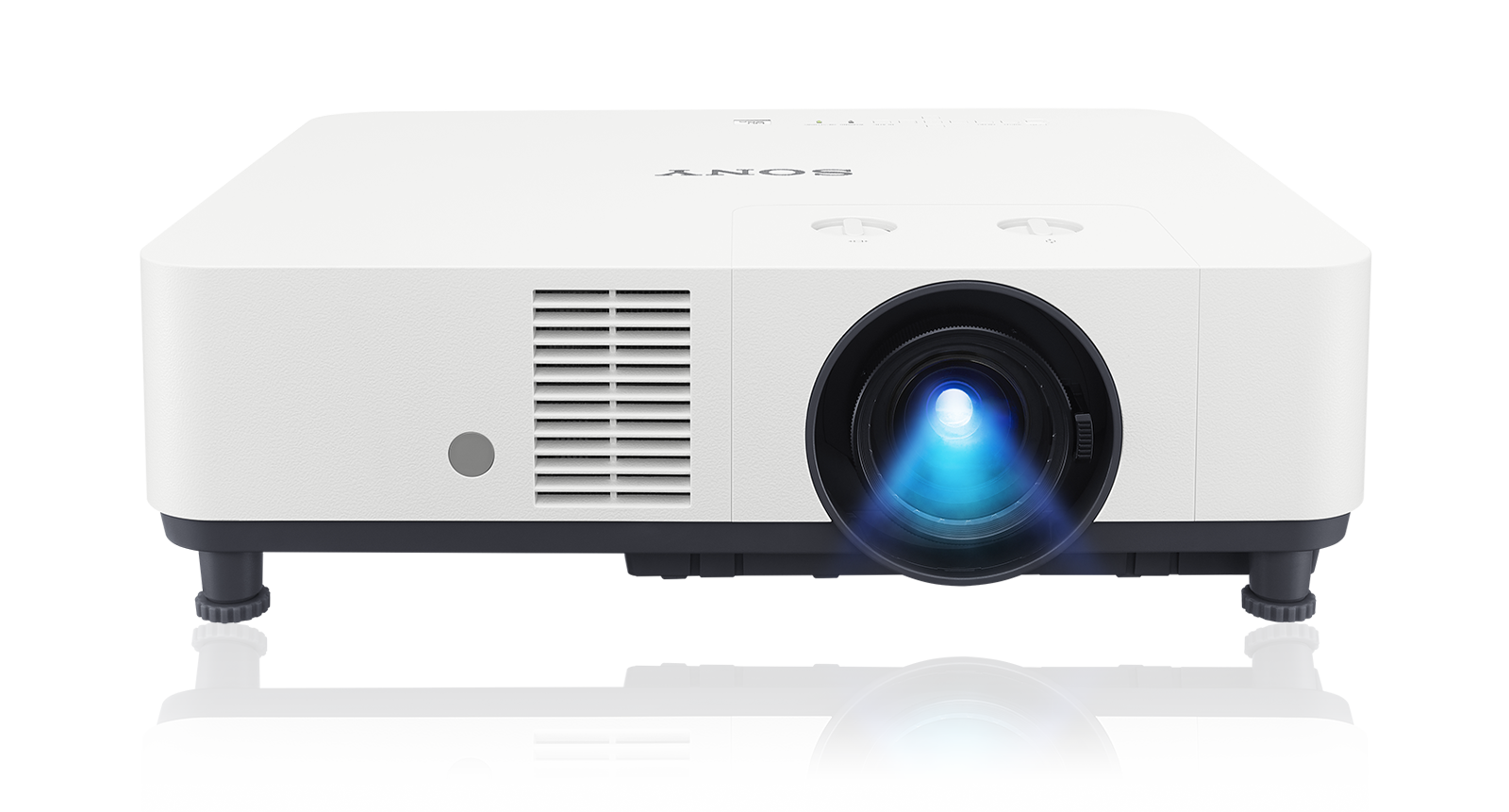 A front view of the VPL-PHZ60/VPL-PHZ50 laser installation projector in white.