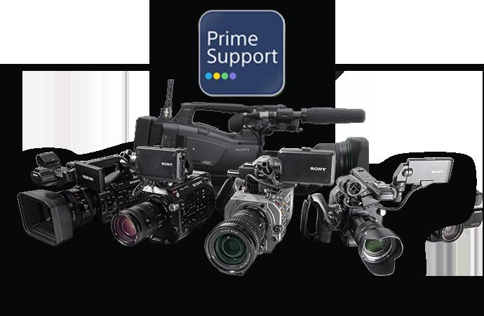 Caméras Sony avec le logo PrimeSupport