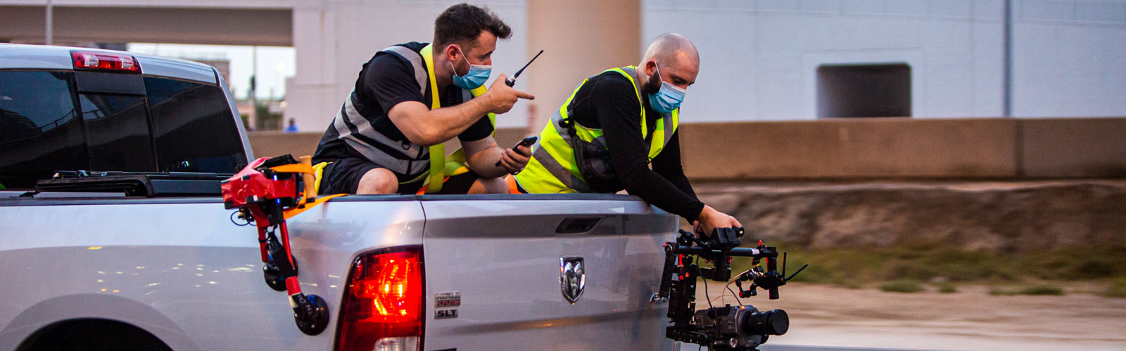 Shooting with FX9 from rear of a truck in Dubai