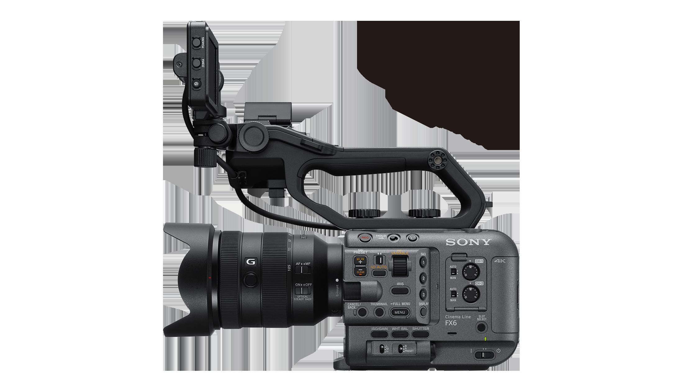 Side view of FX6 full-frame camcorder
