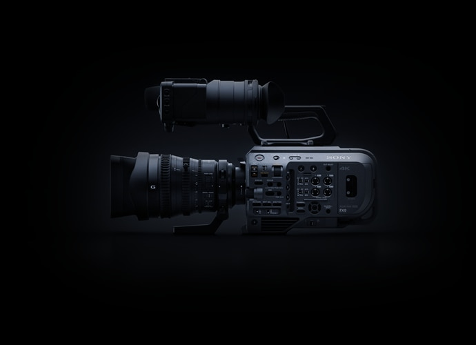 Side view of PXW-FX9