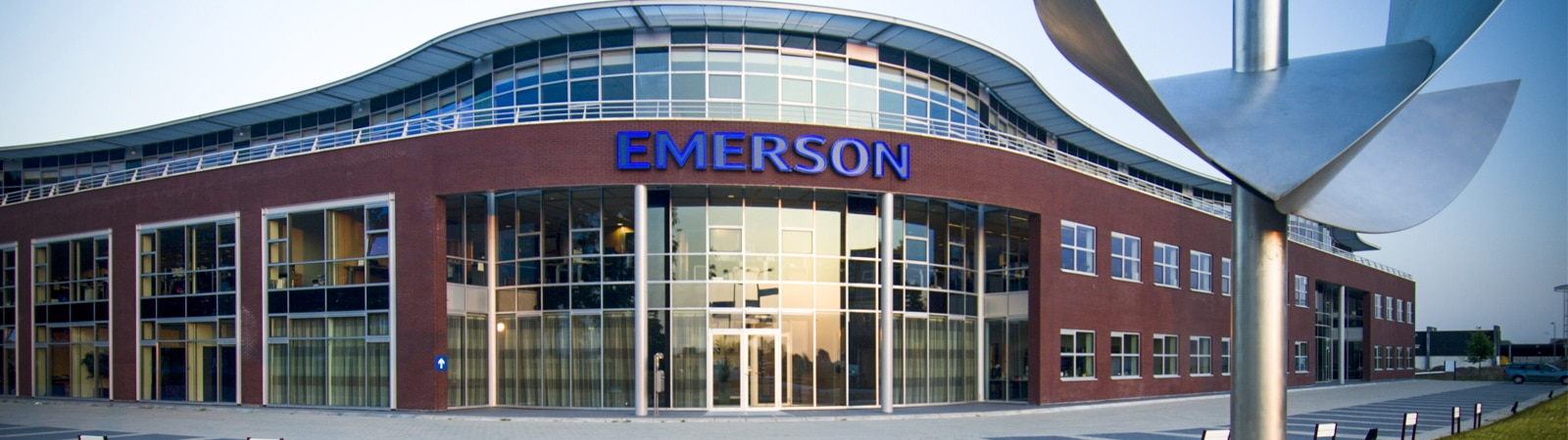 Banner image showing exterior of the Emerson Automation Solutions building.