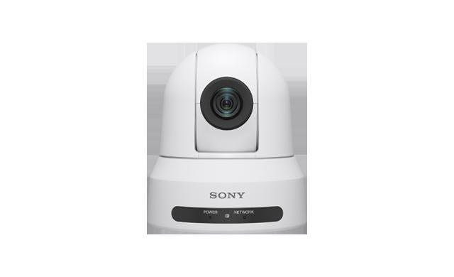 Caméra mobile PTZ (Pan-Tilt-Zoom) SRG-X400, en blanc.