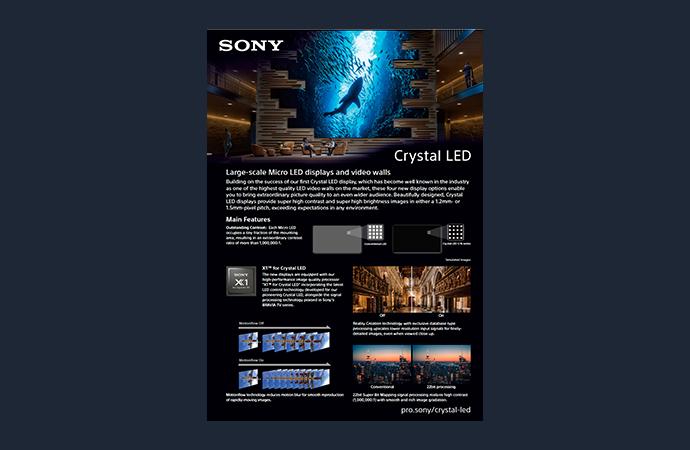 Capture d'écran des brochures sur Crystal LED téléchargeables