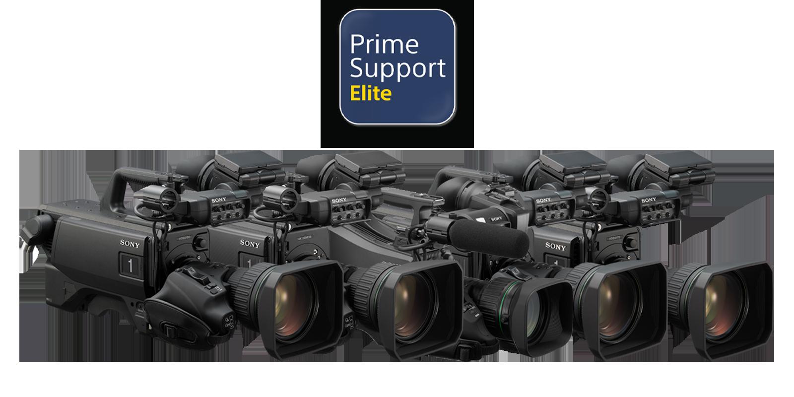 PrimeSupport Elite logo with HDC-3500, HDC-3100, HDC-3170, HDC-5500 and HXC-FB80