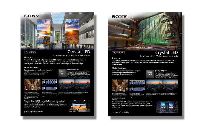 Screenshots of the B-series and C-series downloadable brochures.