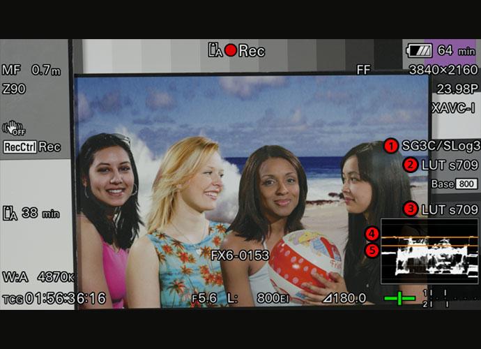 FX6 viewfinder information