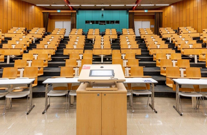A lecture theatre at the University of Lausanne