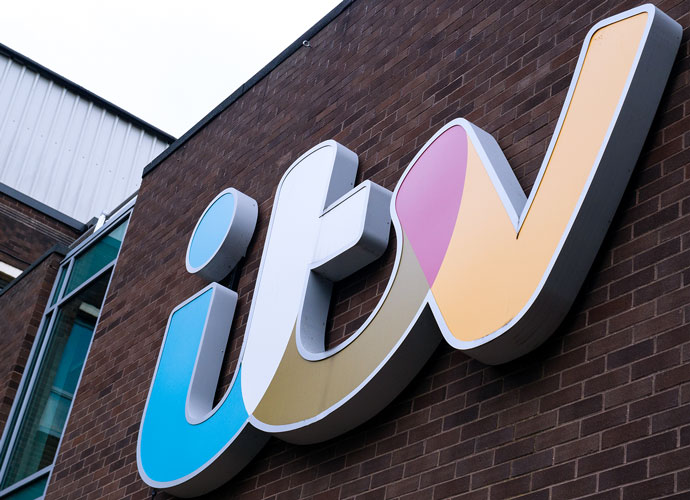ITV logo on the wall