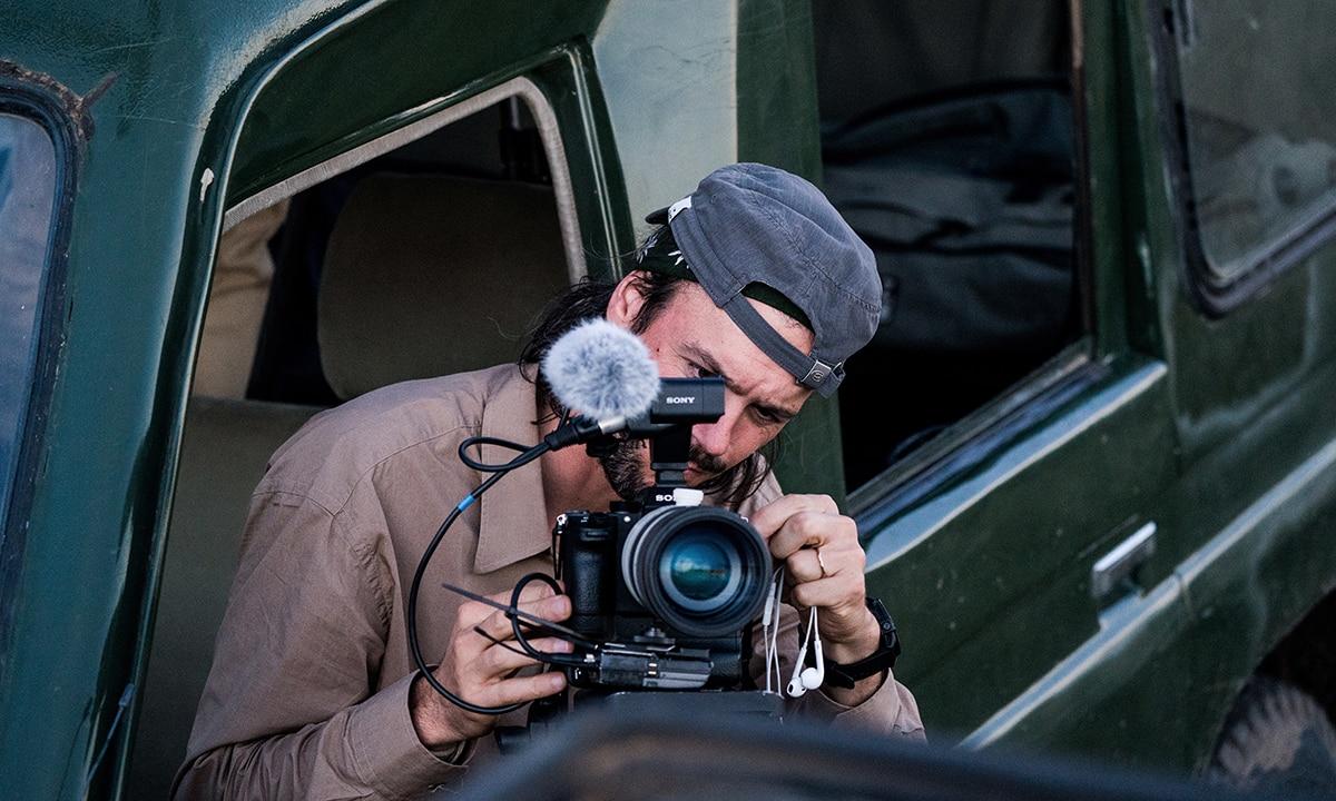 Matheiu Le Lay with Sony Alpha ILC camera