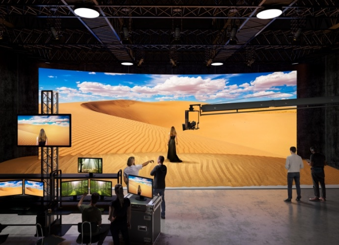 Virtual Set with VENICE cinema camera and Crystal LED